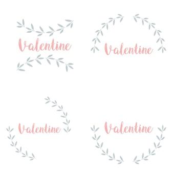 Gelukkige valentijnsdag verlaat frame