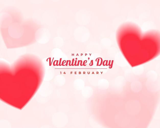 Gelukkige valentijnsdag vervaagt harten mooi