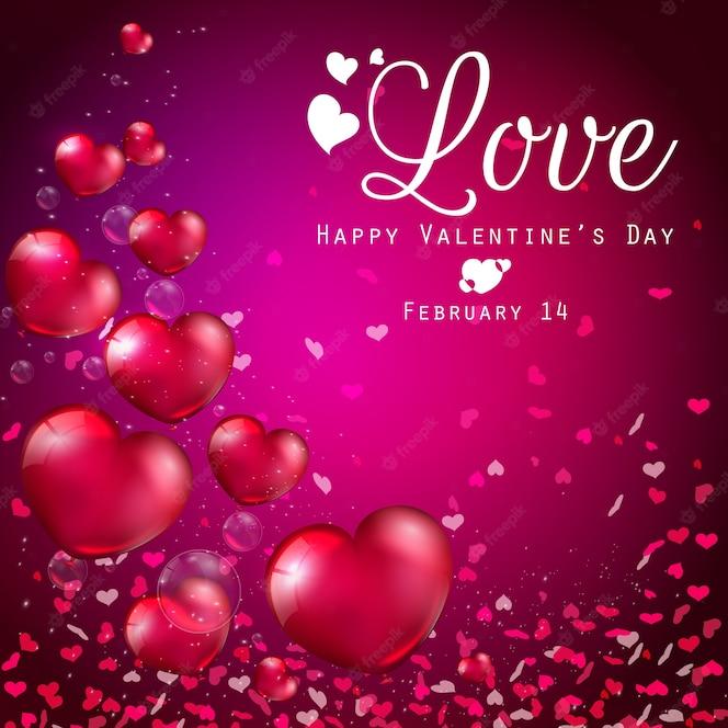 Gelukkige valentijnsdag wenskaart