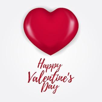 Gelukkige valentijnskaartdag met 3d haardballon