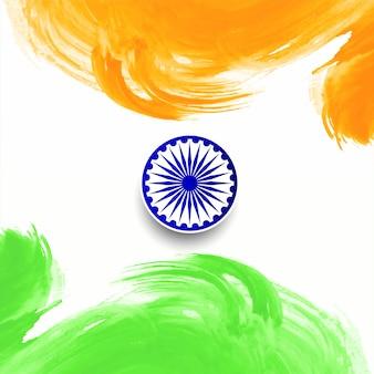 Gelukkige van de de dag indische vlag van de republiek vector als achtergrond