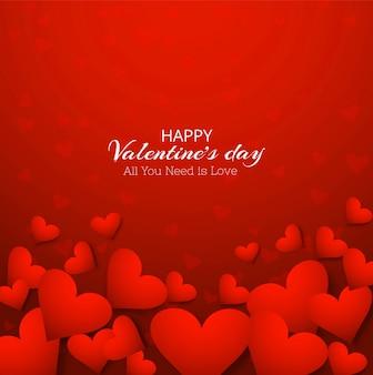 Gelukkige van de valentijnskaartendag rode illustratie als achtergrond