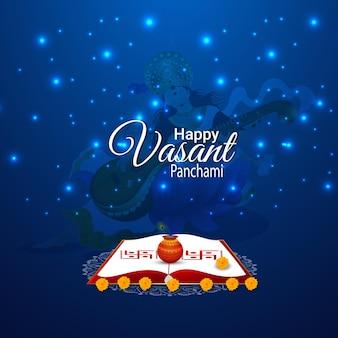 Gelukkige vasant panchami-vieringsachtergrond