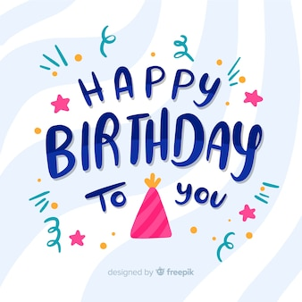 Gelukkige verjaardag aan je belettering