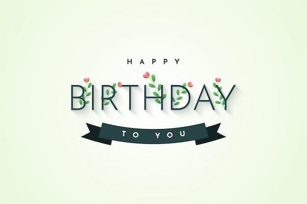 Gelukkige verjaardag aan u het ontwerp van het illustratiesjabloon