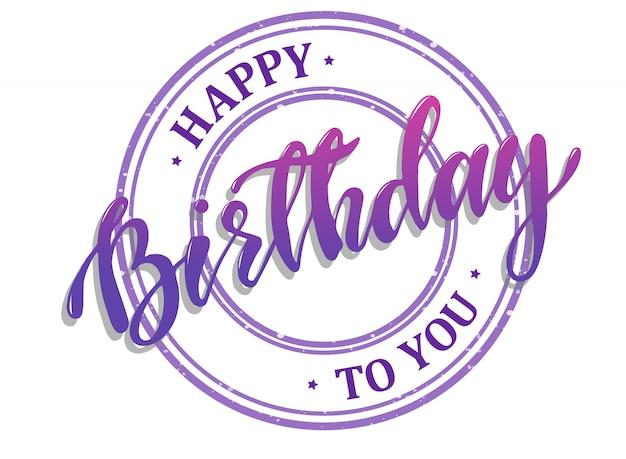 Gelukkige verjaardag aan u wenskaartsjabloon