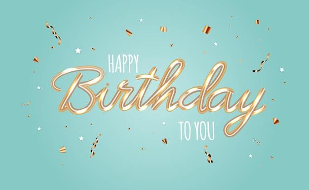 Gelukkige verjaardag abstracte glanzende achtergrond met confetti