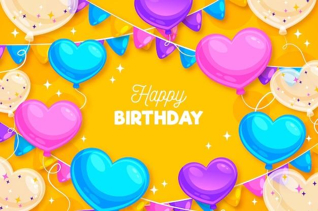 Gelukkige verjaardag achtergrond met ballonnen