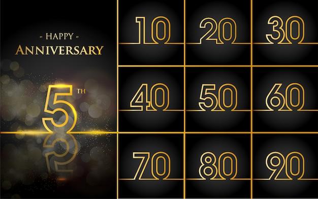 Gelukkige verjaardag achtergrond met gouden regels