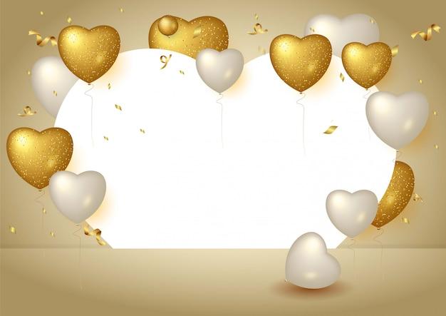 Gelukkige verjaardag achtergrond met realistische ballonnen