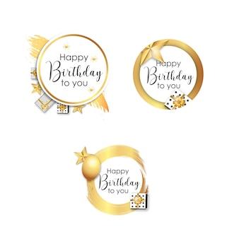 Gelukkige verjaardag achtergrond sjabloon vector