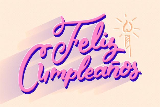 Gelukkige verjaardag belettering concept