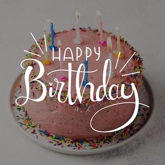 Gelukkige verjaardag belettering ontwerp