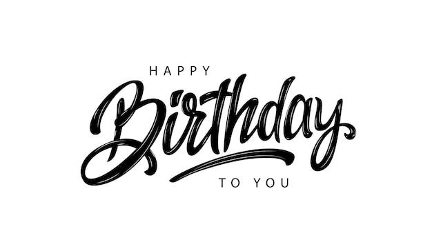 Gelukkige verjaardag belettering van ontwerp