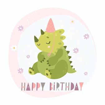 Gelukkige verjaardag dinosaurus