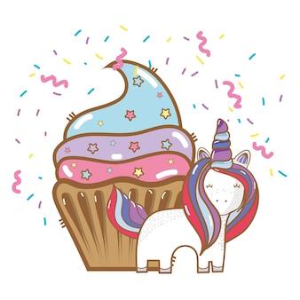 Gelukkige verjaardag eenhoorn cartoons