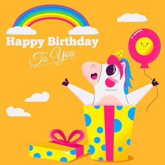 Gelukkige verjaardag eenhoorn