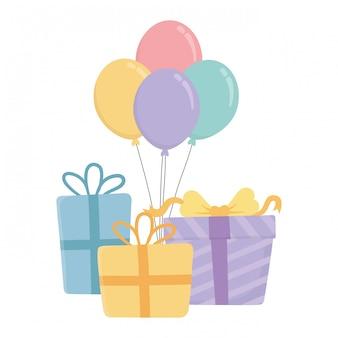 Gelukkige verjaardag en feest geschenken
