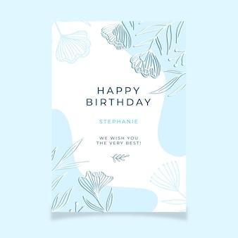 Gelukkige verjaardag groeten sjabloon