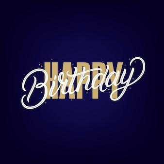 Gelukkige verjaardag handgeschreven letters. moderne borstel kalligrafie zin, citaat. vector illustratie