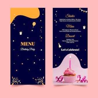 Gelukkige verjaardag heerlijke cake restaurant menu