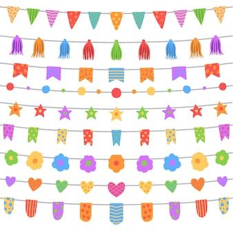Gelukkige verjaardag huis decoratie met slingers