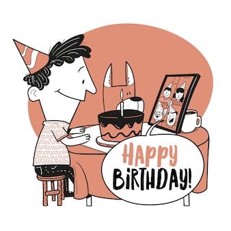 Gelukkige verjaardag in quarantaine