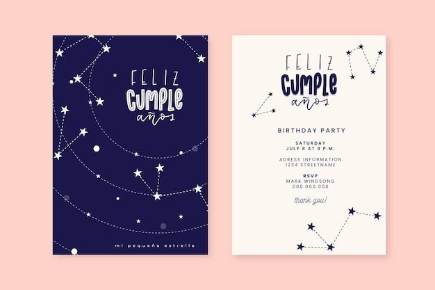 Gelukkige verjaardag-kaartsjabloon