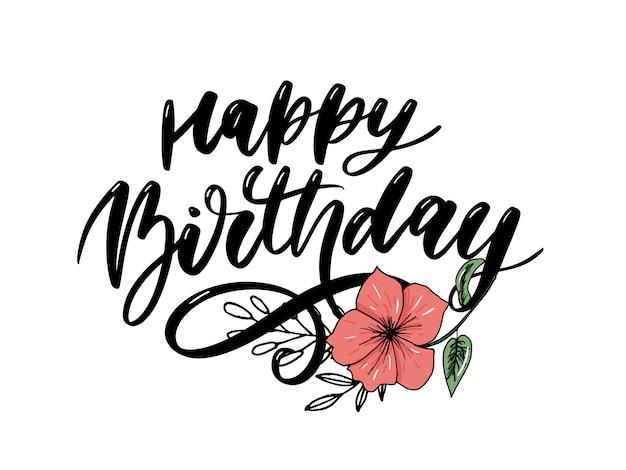 Gelukkige verjaardag kalligrafie