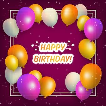 Gelukkige verjaardag kleurrijke ballonnen