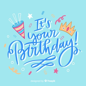Gelukkige verjaardag kleurrijke letters viering
