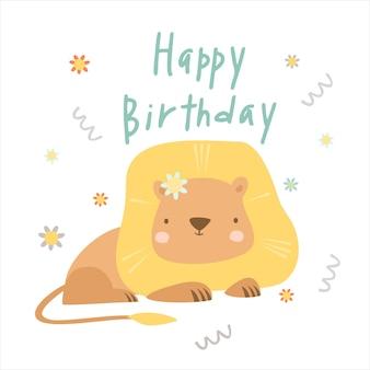 Gelukkige verjaardag leeuw