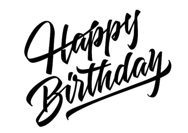 Gelukkige verjaardag lettering