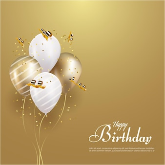 Gelukkige verjaardag met gloeiende ballon