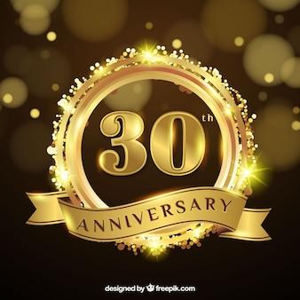 Gelukkige verjaardag met nummers in gouden stijl