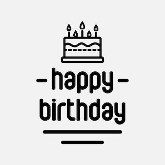Gelukkige verjaardag met taart pictogram