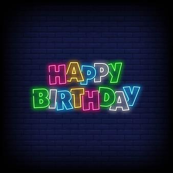 Gelukkige verjaardag neonreclames