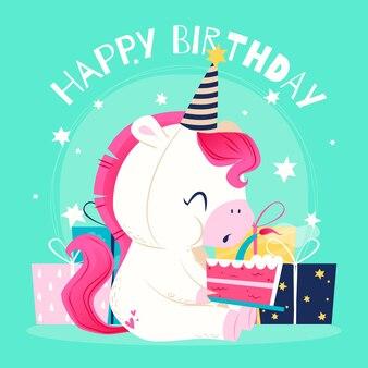 Gelukkige verjaardag platte afbeelding ontwerp