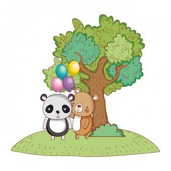 Gelukkige verjaardag schattige dieren