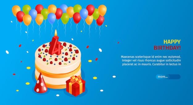 Gelukkige verjaardag-sjabloon voor spandoek