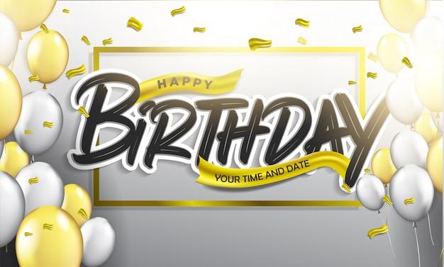 Gelukkige verjaardag typografisch