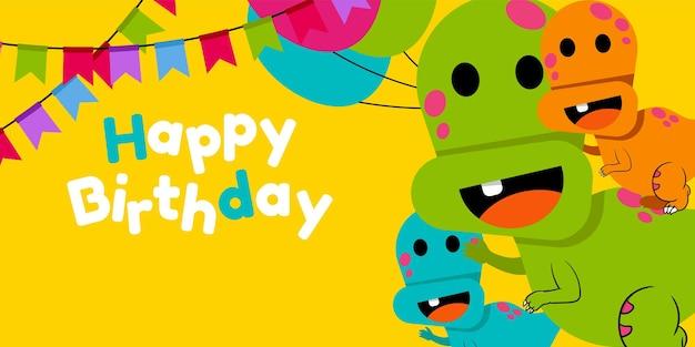 Gelukkige verjaardag, vakantie, baby shower viering groet en uitnodigingskaart met schattige dieren