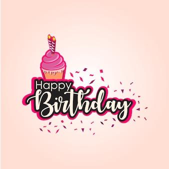 Gelukkige verjaardag vector sjabloon ontwerp illustratie