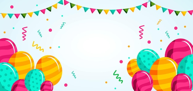 Gelukkige verjaardag vieren sjabloon