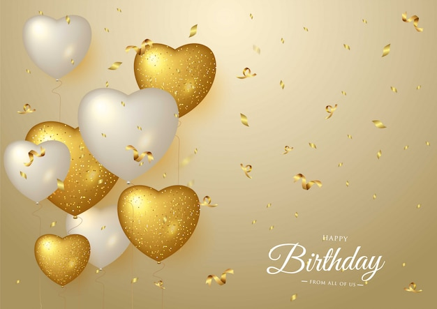 Gelukkige verjaardag viering gouden achtergrond