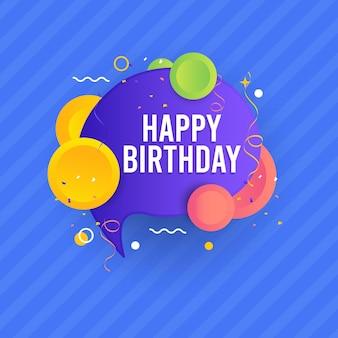 Gelukkige verjaardag voor je sjabloon.