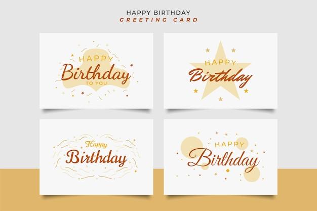 Gelukkige verjaardag-wenskaart met ster en confetti geïsoleerd op een witte achtergrond