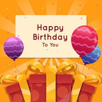 Gelukkige verjaardag-wenskaart