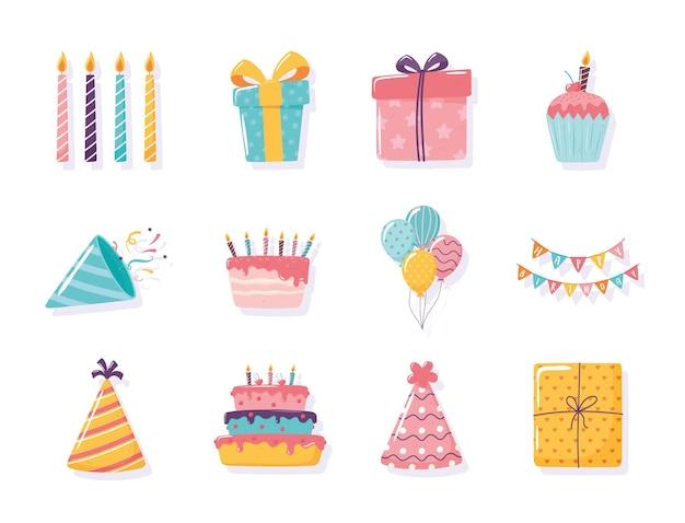 Gelukkige verjaardagscadeau cake hoed