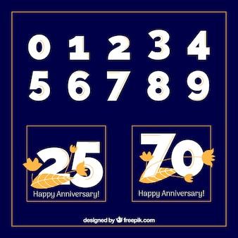 Gelukkige verjaardagscollectie met getallen